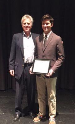LBYBA Secretary Rick Young and 2017 LBYBA Scholarship Winner Matthew Foli