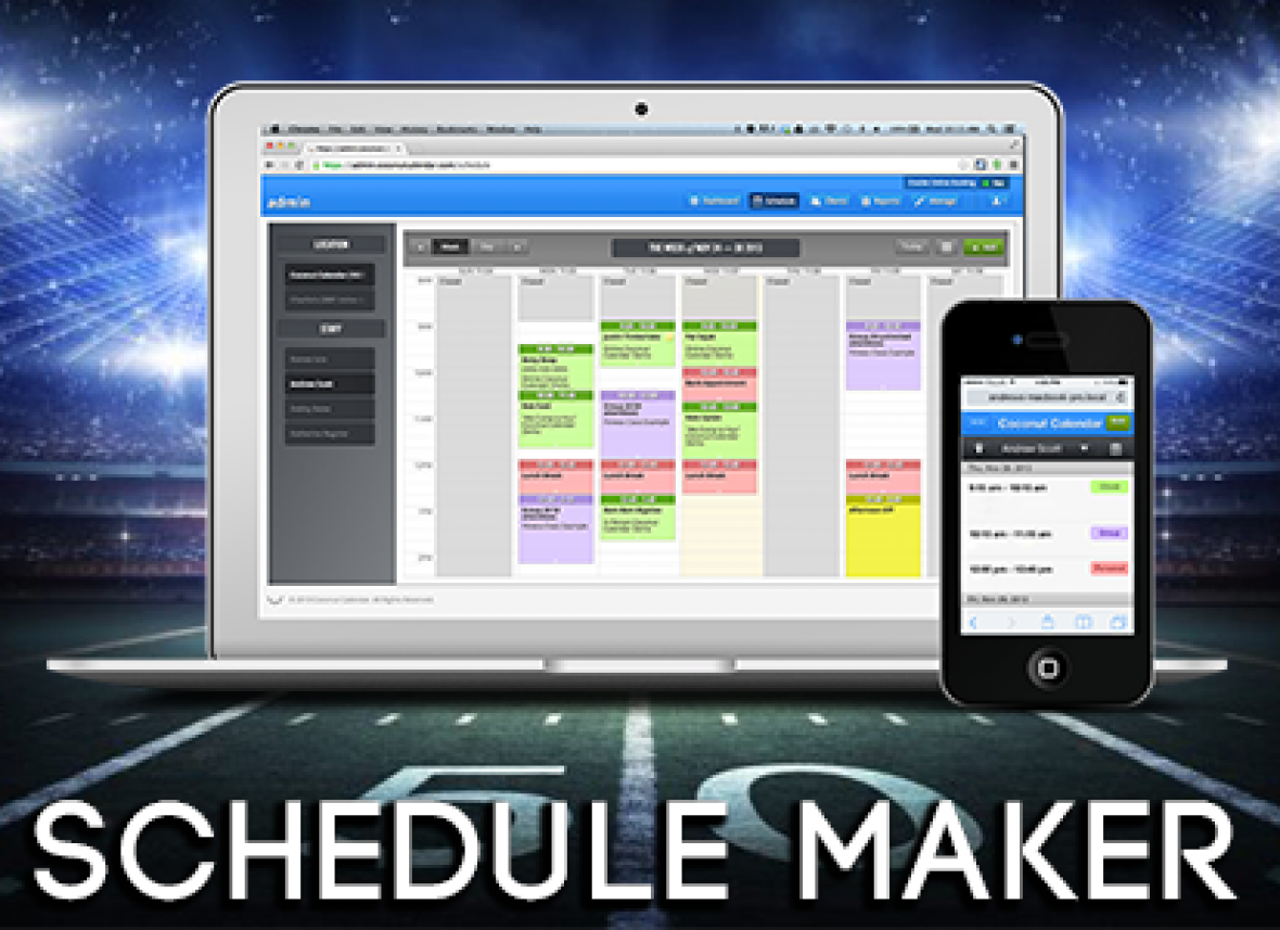 Sports Schedule Maker & Web League Manager