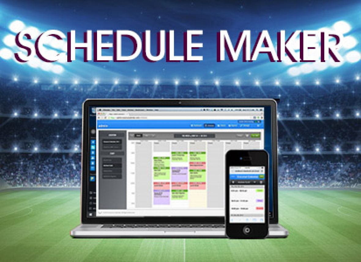 automated sports schedule maker  u0026 web league manager